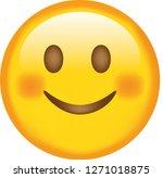 face. emoji. smiling. cute...   Shutterstock .eps vector #1271018875