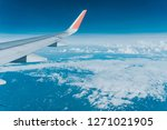 beautiful view from airplane... | Shutterstock . vector #1271021905