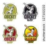 cricket crest | Shutterstock .eps vector #127102232
