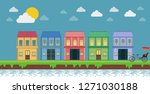 tropical island and old... | Shutterstock .eps vector #1271030188