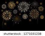 fireworks design on black...   Shutterstock .eps vector #1271031238