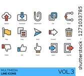 multimedia icons including... | Shutterstock .eps vector #1271033785