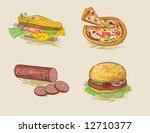 fast food | Shutterstock .eps vector #12710377