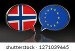 norway and europe union flags...   Shutterstock . vector #1271039665