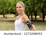 portrait of athletic mature... | Shutterstock . vector #1271048452