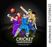 illustration of stadium of... | Shutterstock .eps vector #1271058625