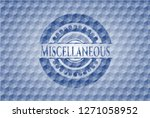 miscellaneous blue hexagon... | Shutterstock .eps vector #1271058952
