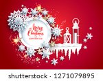 abstract winter design with... | Shutterstock .eps vector #1271079895
