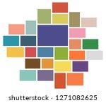 vector mood board   branding... | Shutterstock .eps vector #1271082625