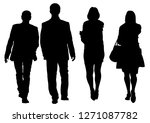 couple of young guy and girl on ... | Shutterstock .eps vector #1271087782