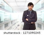 happy male doctor  at the...   Shutterstock . vector #1271090245