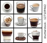 coffee collage | Shutterstock . vector #127109462