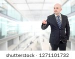 young business man pointing  at ...   Shutterstock . vector #1271101732