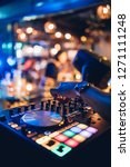 dj plays live set and mixing... | Shutterstock . vector #1271111248