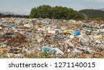 landfill   dump site with green ...   Shutterstock . vector #1271140015