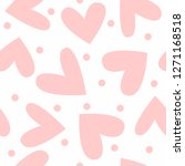 romantic seamless pattern with... | Shutterstock .eps vector #1271168518