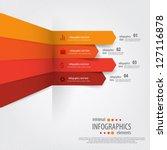 minimal infographics. vector   Shutterstock .eps vector #127116878