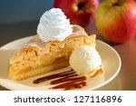 Apple Pie Dessert With Ice Cream
