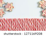 five chocolate peppermint bark... | Shutterstock . vector #1271169208