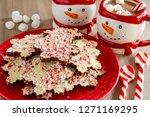 snowflake shaped chocolate... | Shutterstock . vector #1271169295