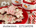 close up of snowflake shaped... | Shutterstock . vector #1271169298