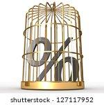 3d percent in cage | Shutterstock . vector #127117952