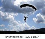 parachutist flying against a... | Shutterstock . vector #12711814