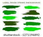 hipster label brush stroke... | Shutterstock .eps vector #1271196892