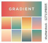 pastel color gradients. trendy...