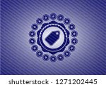 tag icon with jean texture | Shutterstock .eps vector #1271202445