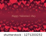 valentine s day abstract... | Shutterstock .eps vector #1271203252