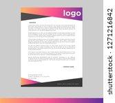 gradient letterhead design... | Shutterstock .eps vector #1271216842