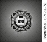 medicine bottle icon inside... | Shutterstock .eps vector #1271218372