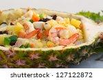 fried rice in pineapple ... | Shutterstock . vector #127122872