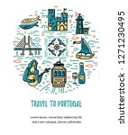 circle with portugal symbols.... | Shutterstock .eps vector #1271230495