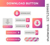 gradient download button icon...