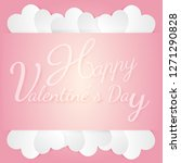 banner valentine day design for ...   Shutterstock .eps vector #1271290828