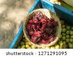 top view of a basket of fresh...   Shutterstock . vector #1271291095