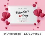 valentines day sale with ... | Shutterstock .eps vector #1271294518
