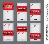 sale promotion banner  | Shutterstock .eps vector #1271296732