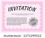 pink vintage invitation.... | Shutterstock .eps vector #1271299312