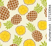 seamless pattern with pineapples | Shutterstock .eps vector #127133066