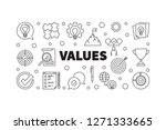 vector values horizontal... | Shutterstock .eps vector #1271333665