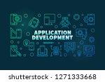 application development vector... | Shutterstock .eps vector #1271333668