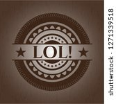 lol  wood icon or emblem   Shutterstock .eps vector #1271339518