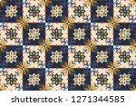 ethnic pattern. mediterranean... | Shutterstock .eps vector #1271344585