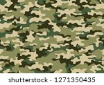 texture military camouflage... | Shutterstock .eps vector #1271350435