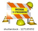 work in progress   3d | Shutterstock . vector #127135352