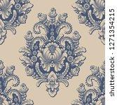 vector damask seamless pattern... | Shutterstock .eps vector #1271354215