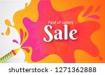 advertising poster or banner... | Shutterstock .eps vector #1271362888